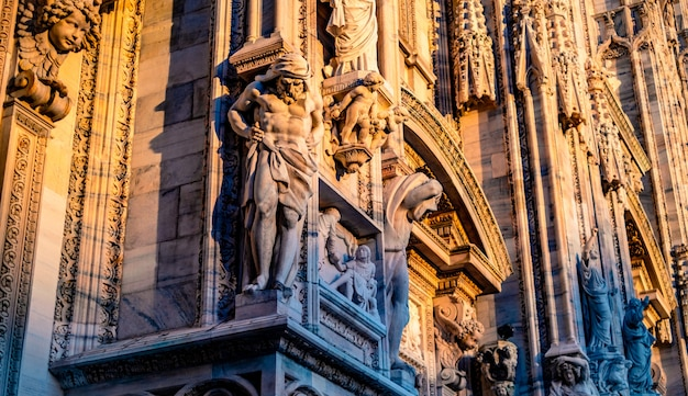 Statues from outside milan cathedral