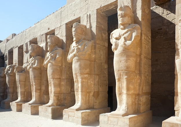 Statues in karnak temple, luxor, egypt