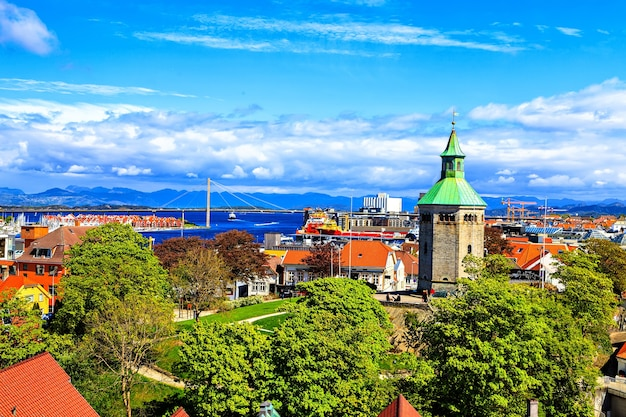 Stavanger, norway: panoramic landscape from the top