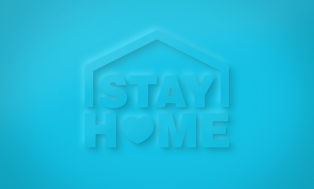 Stay home conceptual typography for online communication