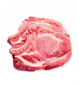 Стейк из мяса изолирован.