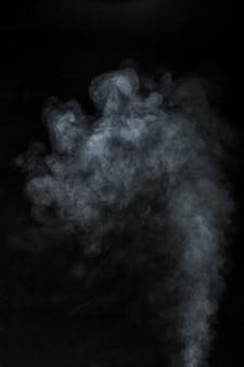 Steam on black background