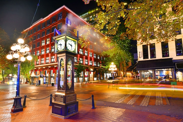 Steam clock in gastown vancouver,british columbia, canada