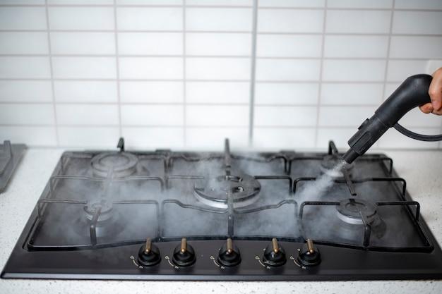집의 증기 소독 및 살균, 주방 가스 렌지의 증기 처리