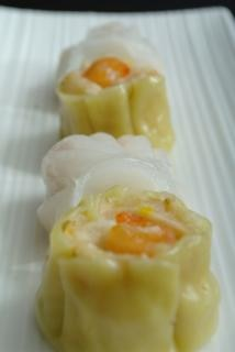 Steamed dim sum, delicieux