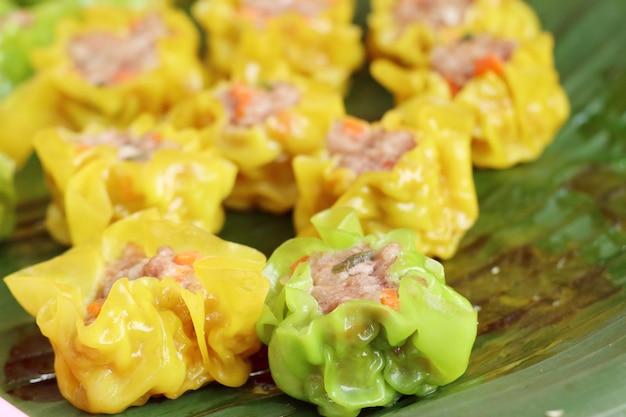 Steamed dumplings at street food