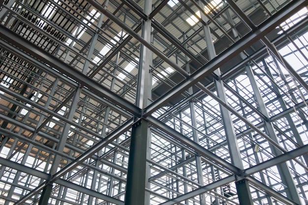 Steel building structures that are strong and stable.