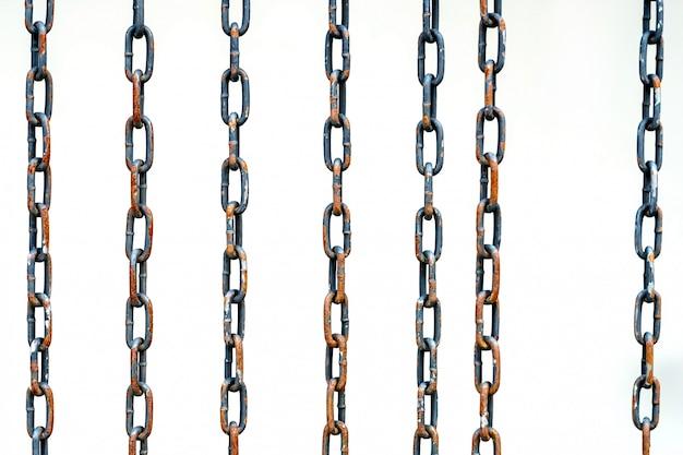 Steel chain, on white background