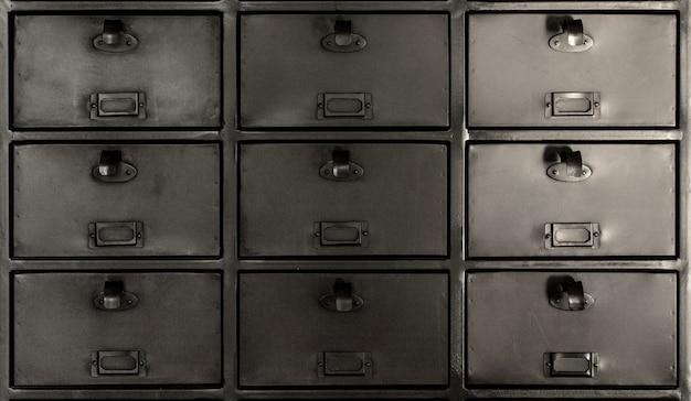 Sfondo o texture della cassettiera in acciaio