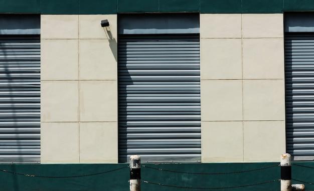 Steel door at a storage warehouse