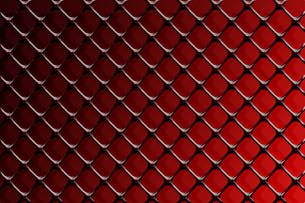 Steel grating on a red background.