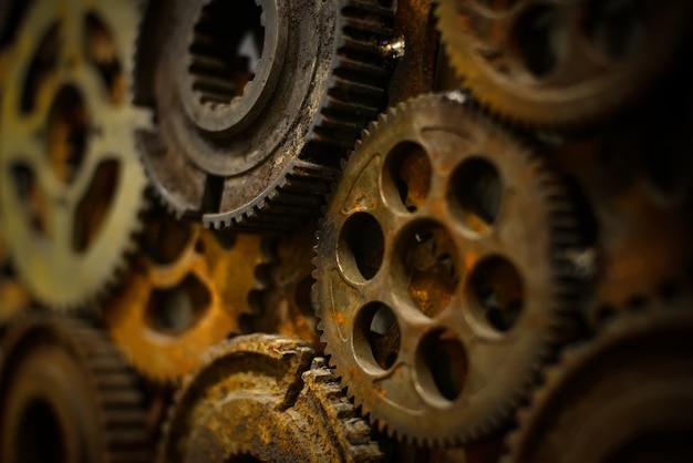 스틸 연동 기계 빛나는 팀워크