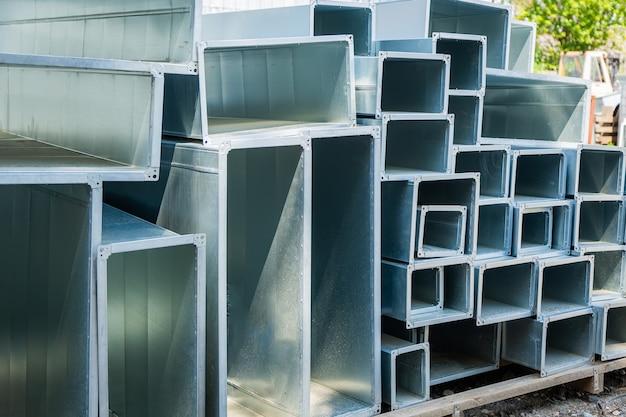Детали стальных труб для строительства воздуховодов