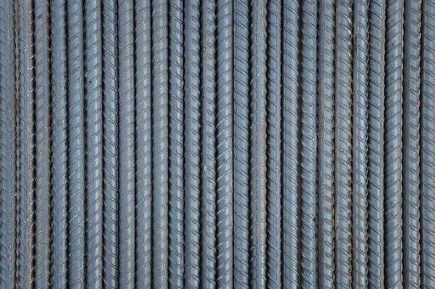 Steel rods background and textured