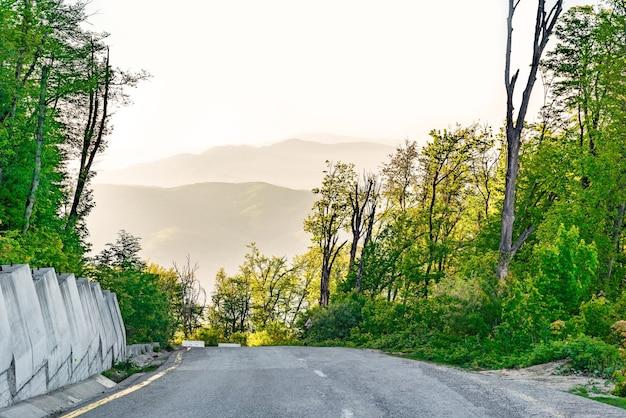 山道の急降下