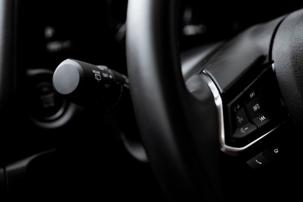 Steering wheel control close up