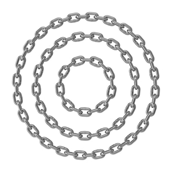 Руль из хромированной металлической цепи.