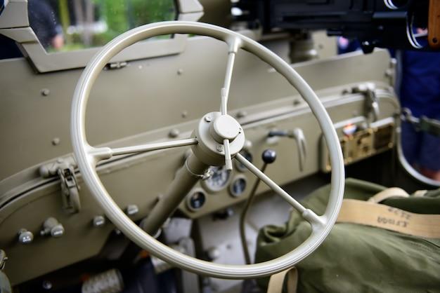 Steering wheel military vehicle