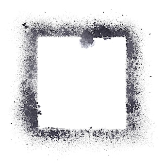 Stencil frame isolated on the white background - raster illustration