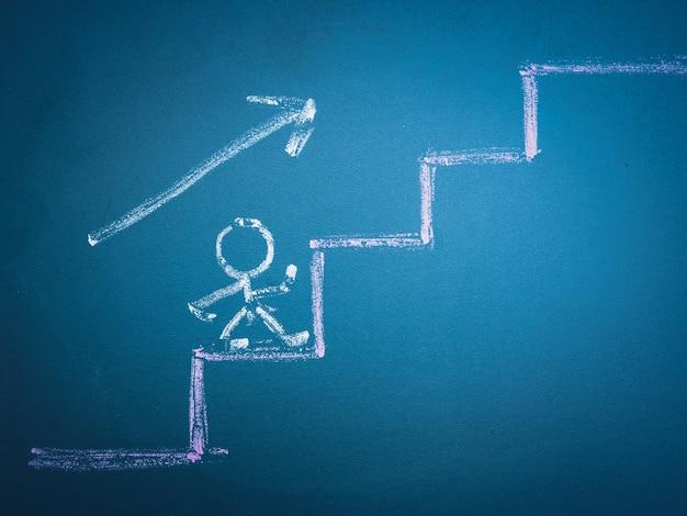 Шаг за шагом вверх - концепция карьеры и развития.