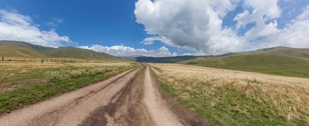 Steppe kazakhstan, trans-ili alatau, plateau assy,