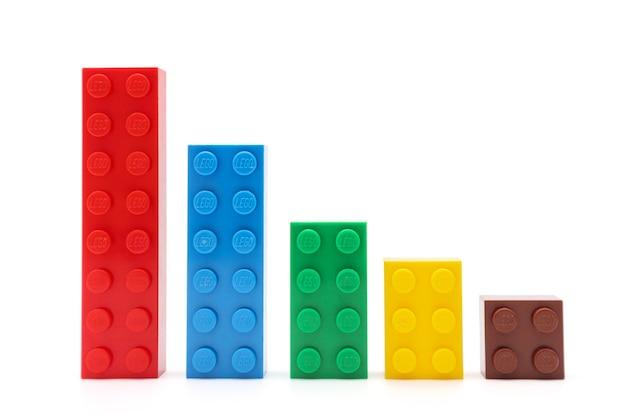 Ступени из разноцветных кубиков лего