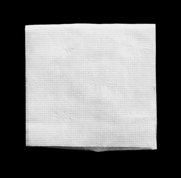 Sterile medical gauze on black background