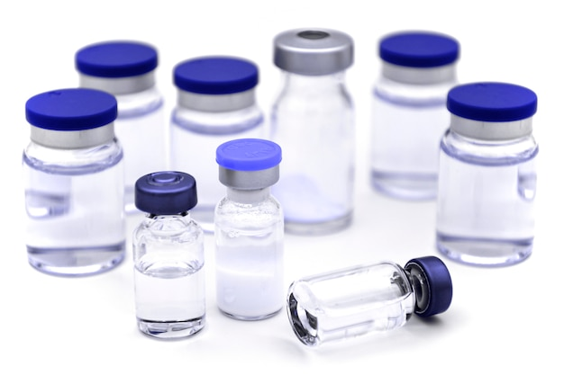 Sterile pharmaceutical products for injection.