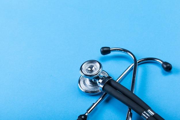Stethoscope on blue