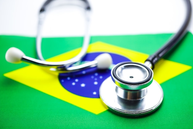 Stethoscope on brazil flag