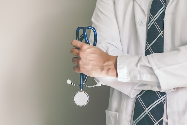 Stethoscope in the doctor's hands
