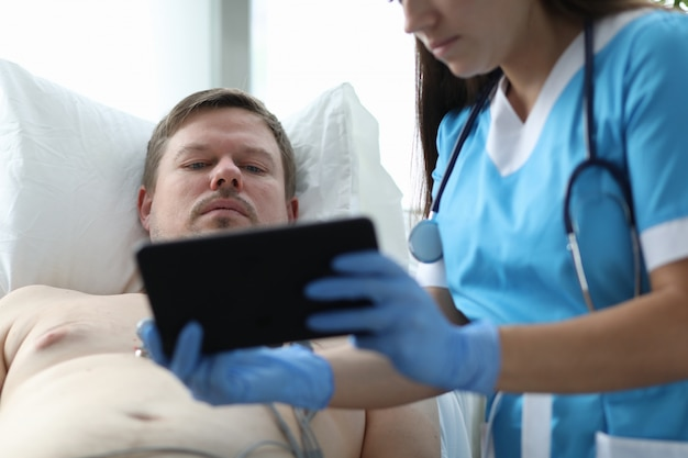 Stethoscope on female neck