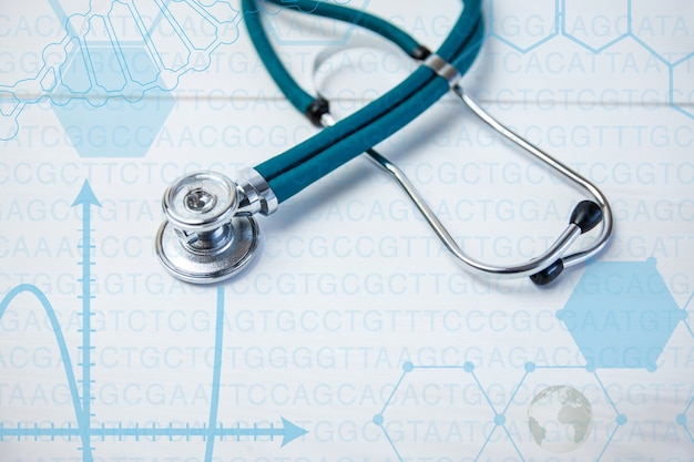 Stethoscope and graphics