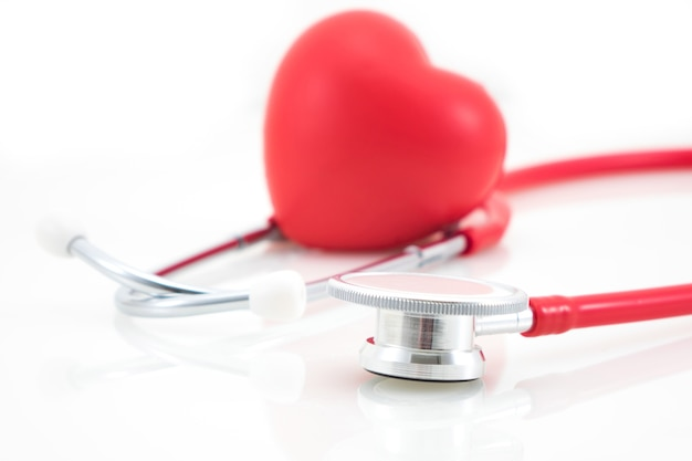 Stethoscope and red heart