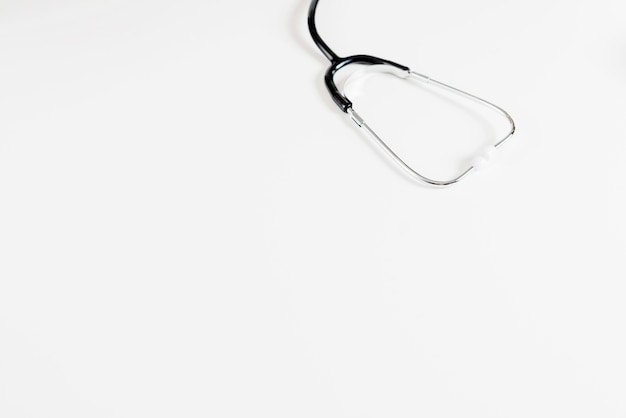 Stethoscope on white table