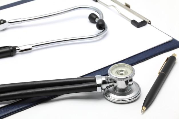Stethoscope with clipboard