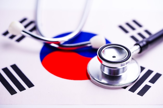 Stethoscope with korea flag.