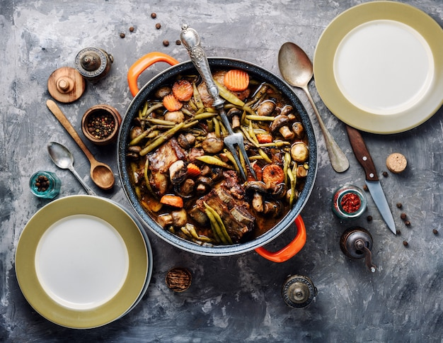 Stew meat-beef bourguignon