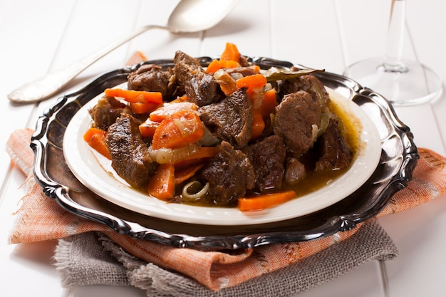 Stew with beef and carrots