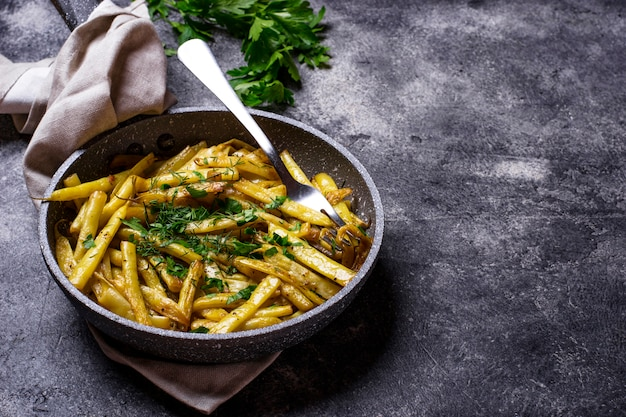 Stewed yellow wax beans