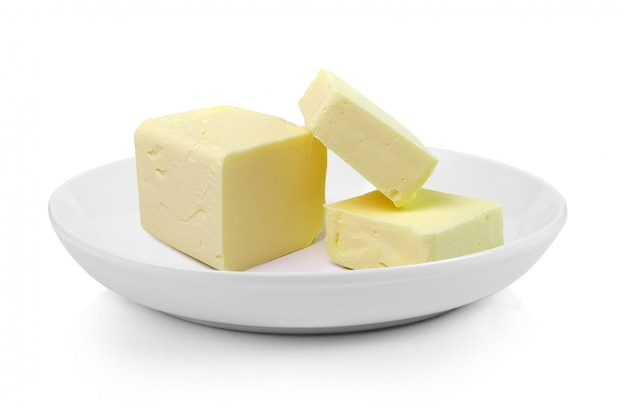 プレートにバターの棒