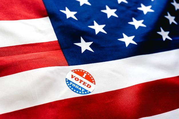 선거에서 오늘 투표 할 의무를 이미 완수했음을 나타내는 스티커