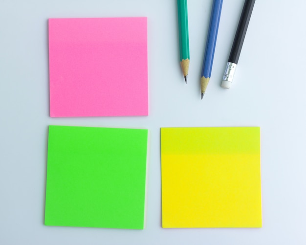 Sticky note paper on white