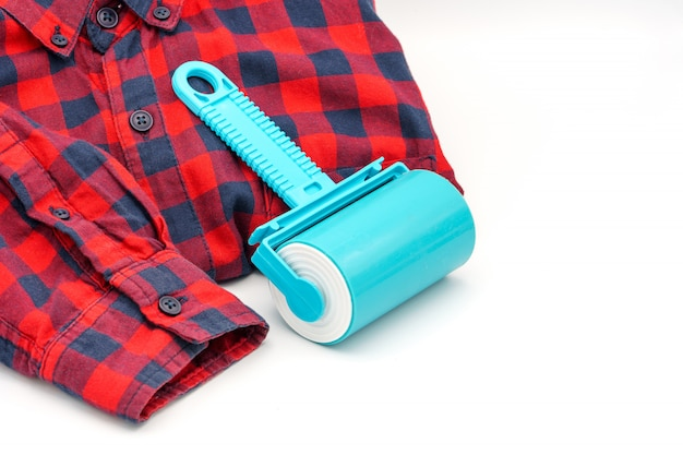 Sticky washable roller for cleaning clothes, shirt