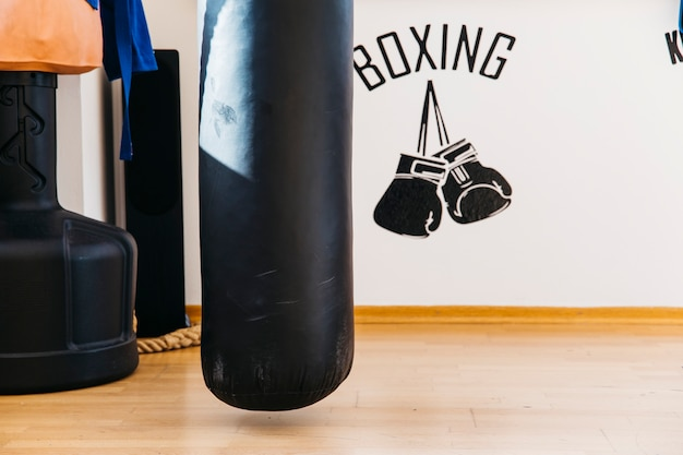Still life of boxing equipment
