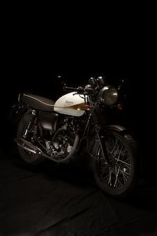 Still life of cafe racer style motorbike