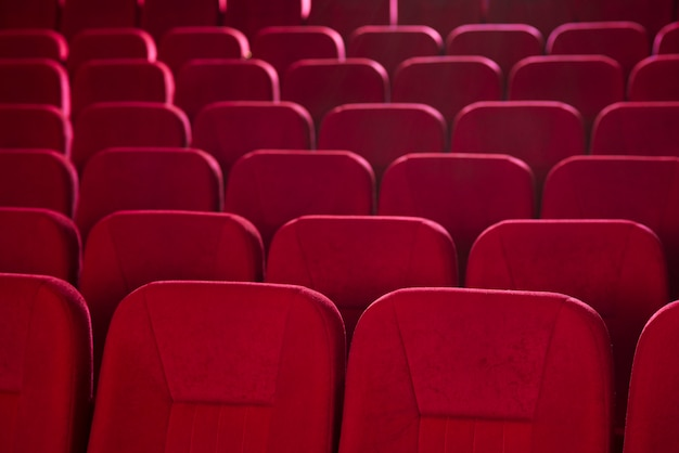 Still life of cinema seats