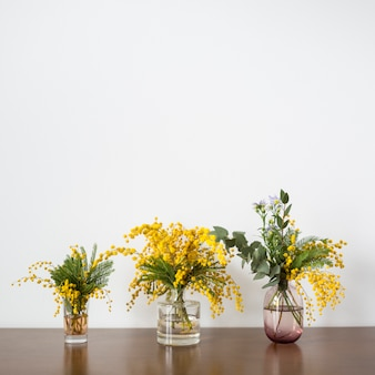 Still life of flowers with copyspace