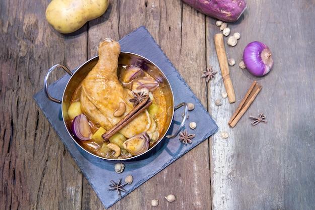 Still life food of chicken mussaman curry