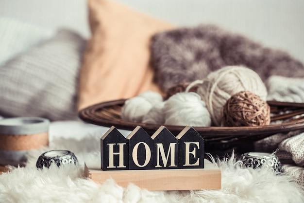 Still life home decor in a cozy home.